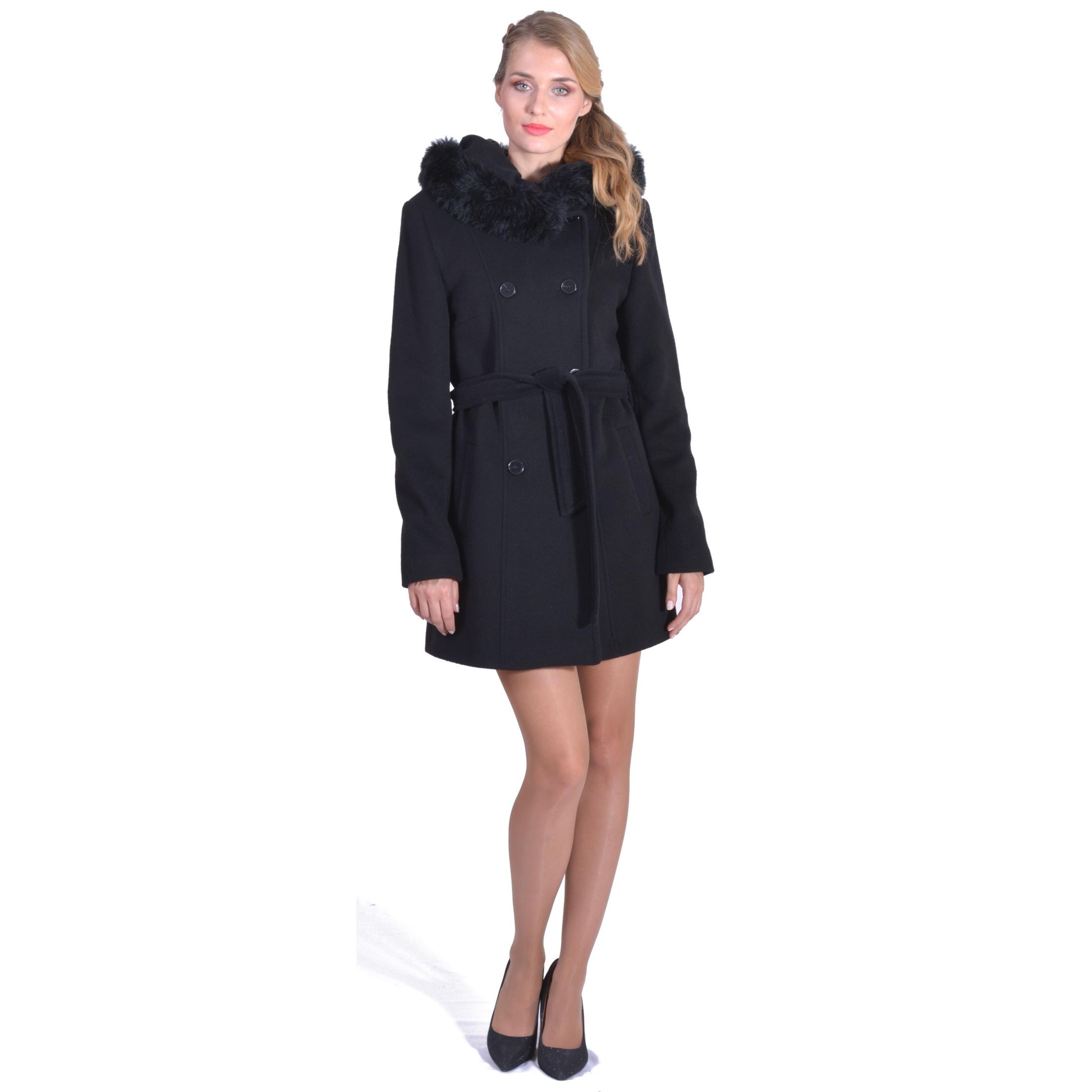 lady m coat, winter coat, zimski kaput za žene,kratki kaput,crni kaput, black coat