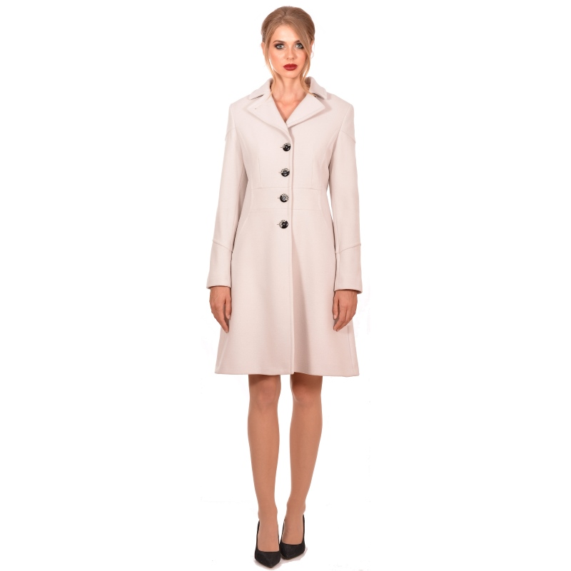Womens white modern coat made of wool - LADY M Marija modna odjeća - Maria Fashion company - Collection Autumn/Winter 2018-19