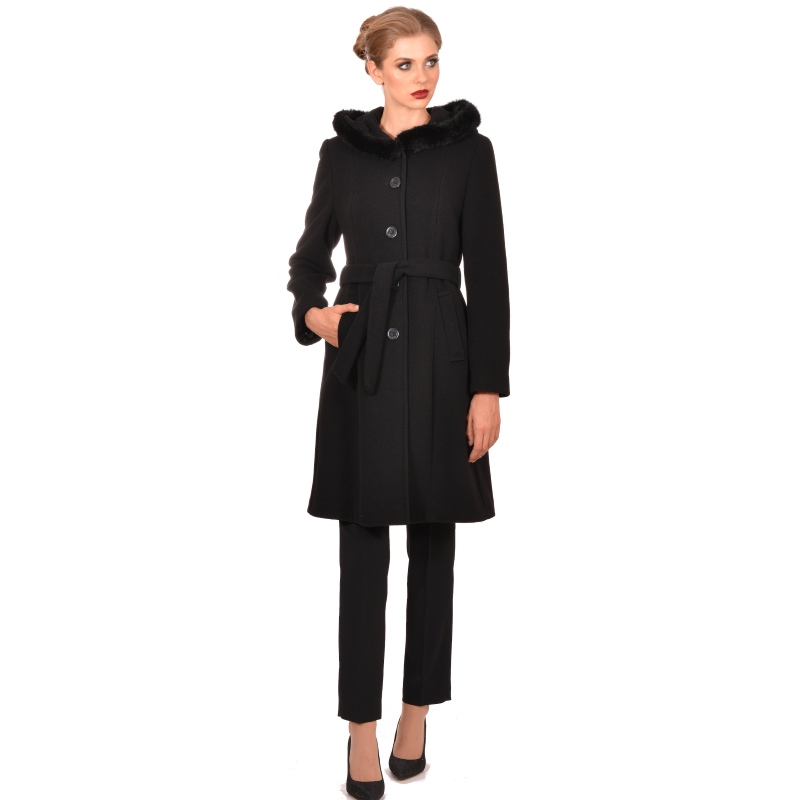 M WOMAN long womens coat with hood - Marija modna odjeća - Maria Fashion company - Collection Autumn/Winter 2018-19