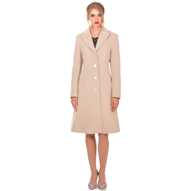 Lady M - Womens white elegant coat wool cashmere - Ženski kaput bijeli - Maria fashion company - Marija modna odjeca Collection Autumn/Winter 2018-19