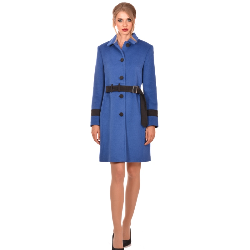 Womens blue wool coat - Lady M Marija modna odjeća - Maria Fashion company - Collection Autumn/Winter 2018-19