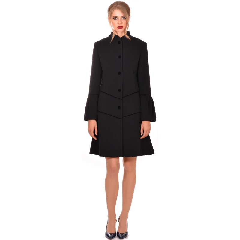 Lady M - Womens black modern coat wool cashmere - Lady M Marija modna odjeća - Maria Fashion company - Collection Autumn/Winter 2018-19