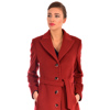Women's classic winter coat made of wool cashmere fabric.