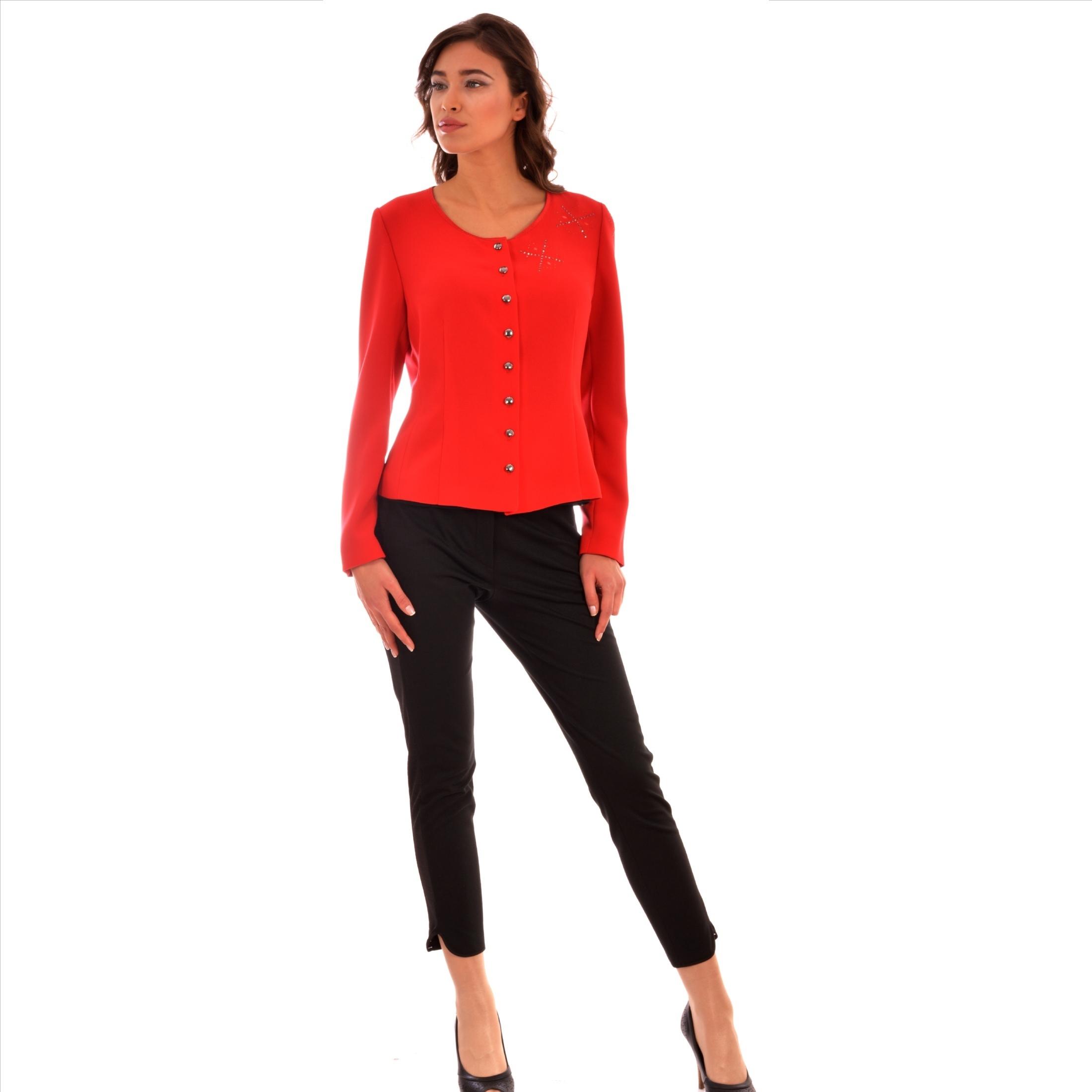 women's red blazer
