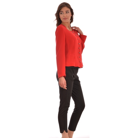 women's red blazer
