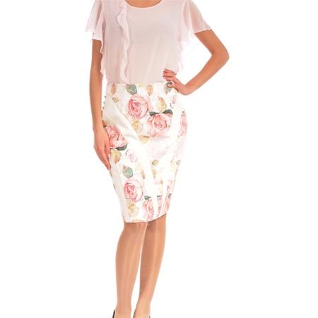 women's white skirt with flowers, ženska suknja bijela sa cvijetovima