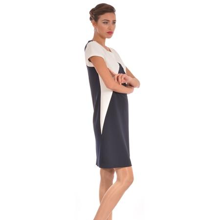 blue-white dress, plavo - bijela haljina
