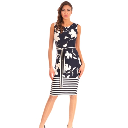 ženska haljina plavo-bijela lady m, women's blue-white dress lady m