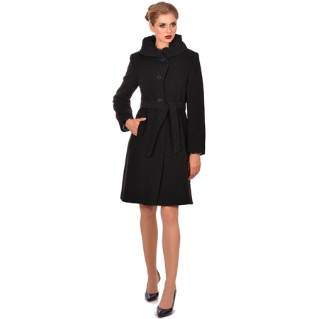 ženski kaput crni lady m, women's coat black woolen