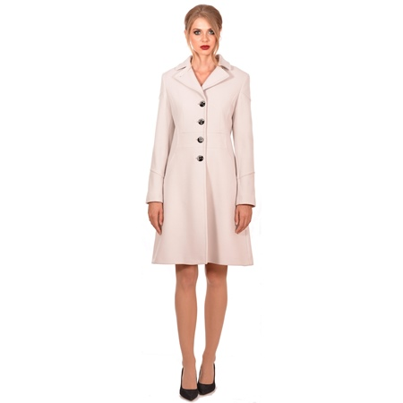 women's white coat lady m elegant, ženski bijeli kaput elegantni do koljena