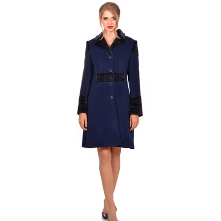 blue wool women's coat, ženski vuneni plavi kaput