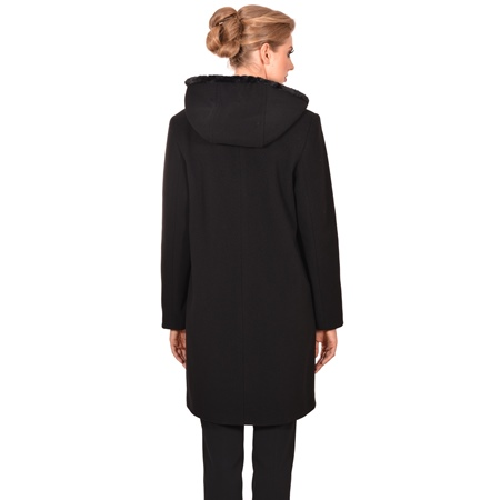 ženski kaput s kapuljačom,women's coat with hood