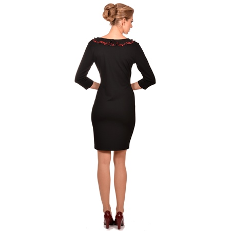 crna ženska haljina lady m,black dress lady m by maria fashion