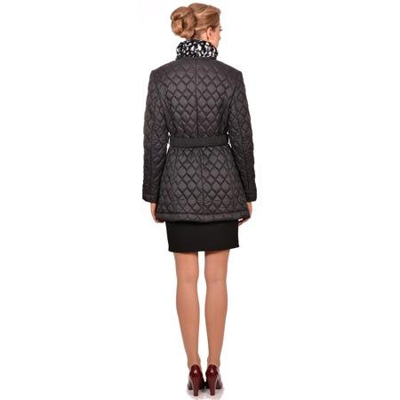 women's short jacket, ženska kratka crna jakna s pojasom