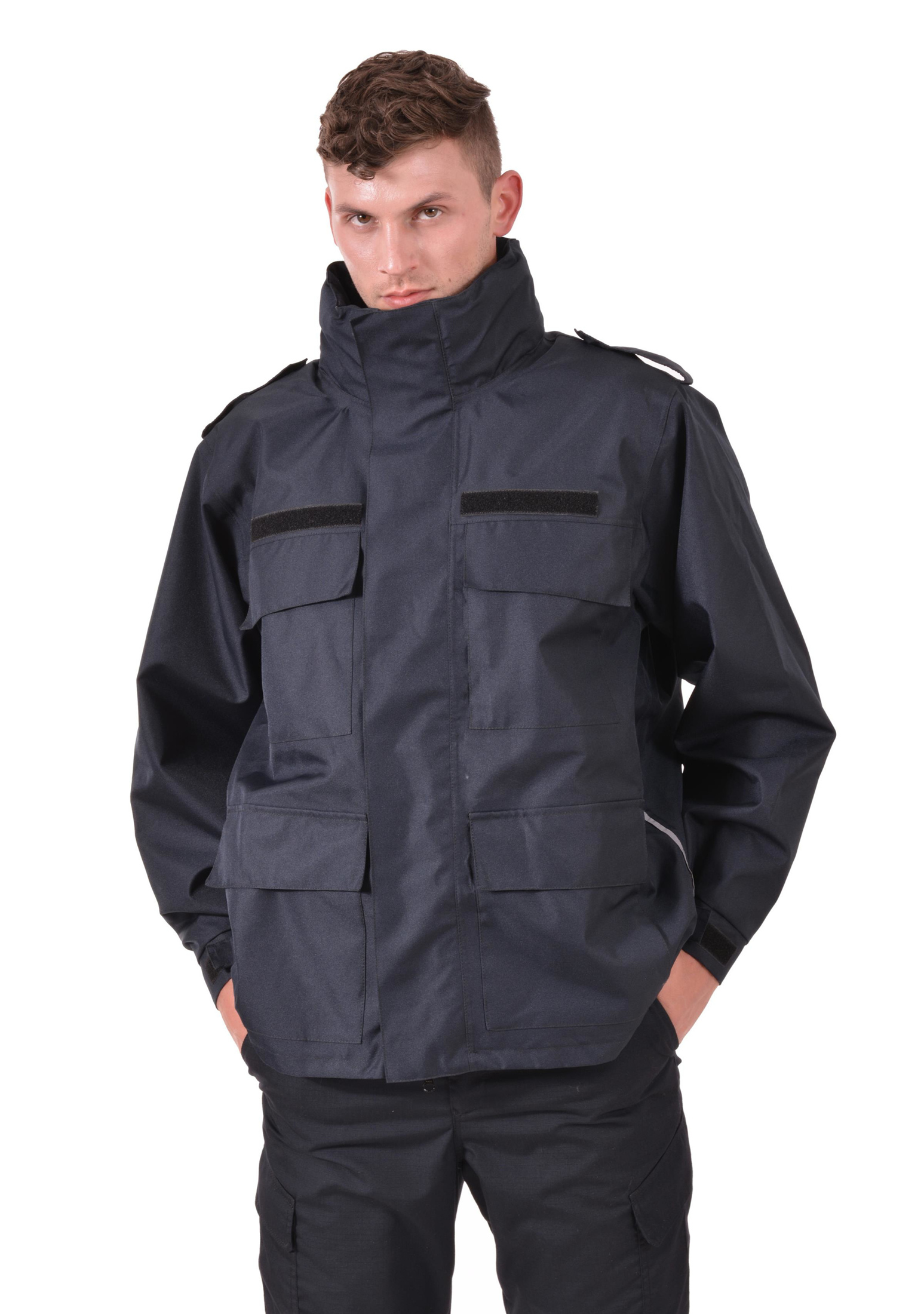 muška vatrogasna hardshell jakna s reflektirajućim paspulima, men's firefighter jacket with reflective piping