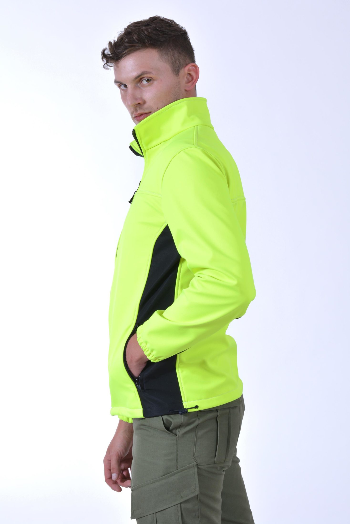 Muška soft shell jakna, vodoodbojna, vjetronepropusna, men's soft shell jacket, water repellent, windproof, high vision