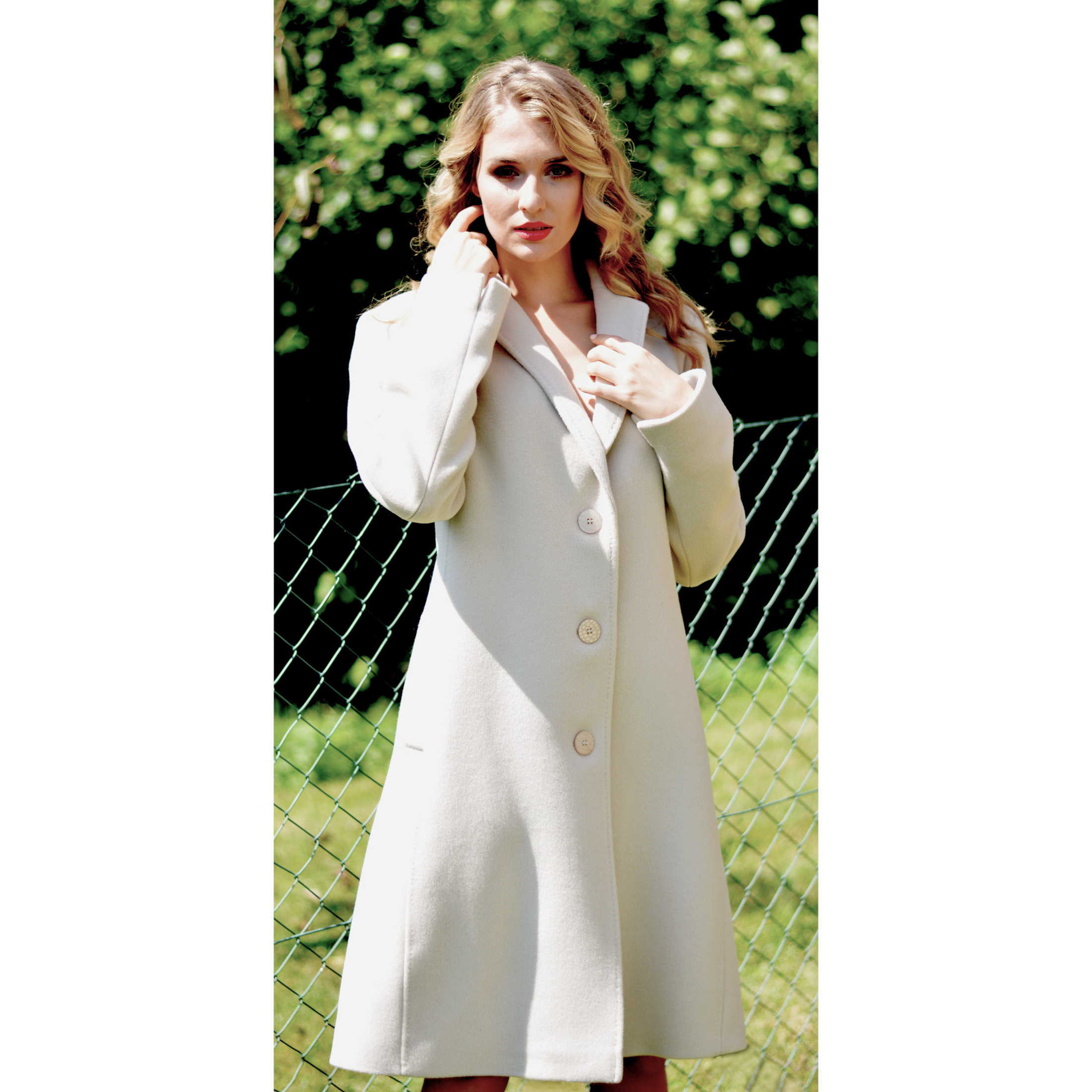 women's wool beige coat, ženski bež kaput
