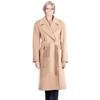 Casual coat with belt, wide collar, high street edition