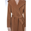 Casual camel coat with hood and belt, timeles coat
