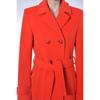 slim fit red coat