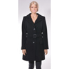 slim coat, high colar, fastening with 3 button
