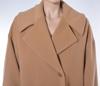 Casual coat, wide collar, camel coat,